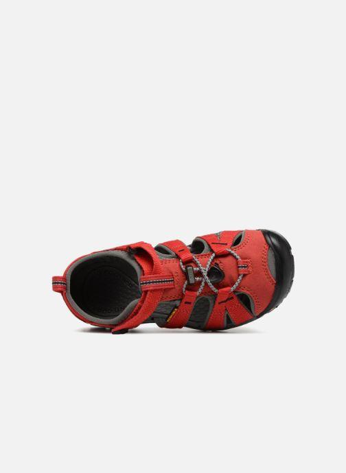Sandales et nu-pieds Keen Seacamp ll CNX Rouge vue gauche