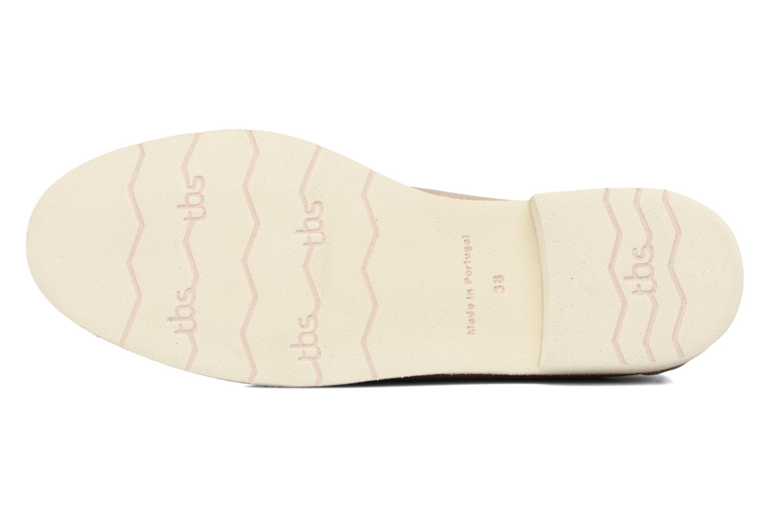 Lace-up shoes TBS Farrah 2 Beige view from above