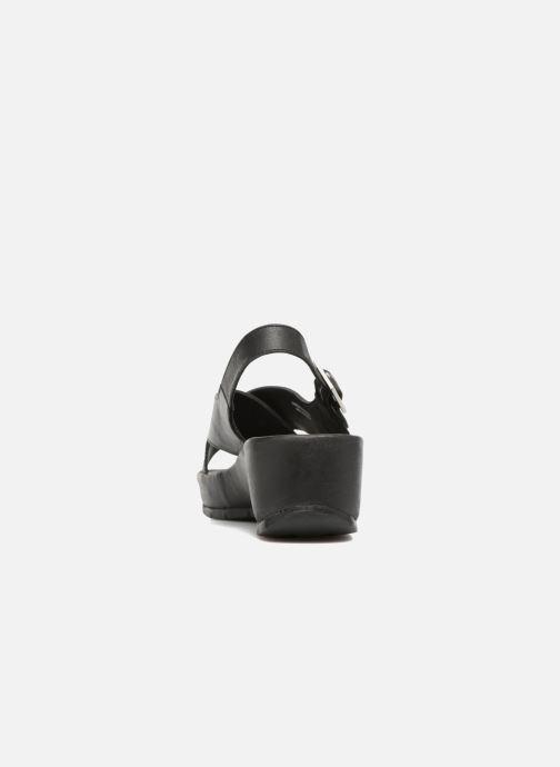 Sandales et nu-pieds TBS Louanne Noir vue droite