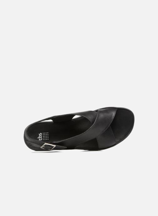 Sandales et nu-pieds TBS Louanne Noir vue gauche