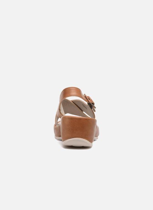 Sandalen TBS Louanne braun ansicht von rechts