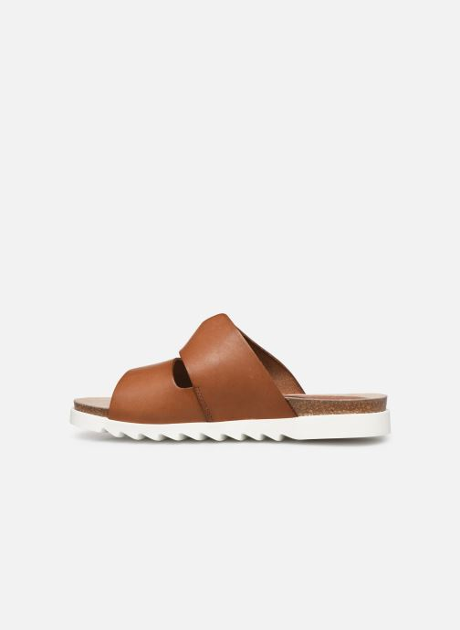 Sandales et nu-pieds TBS Typhenn Marron vue face