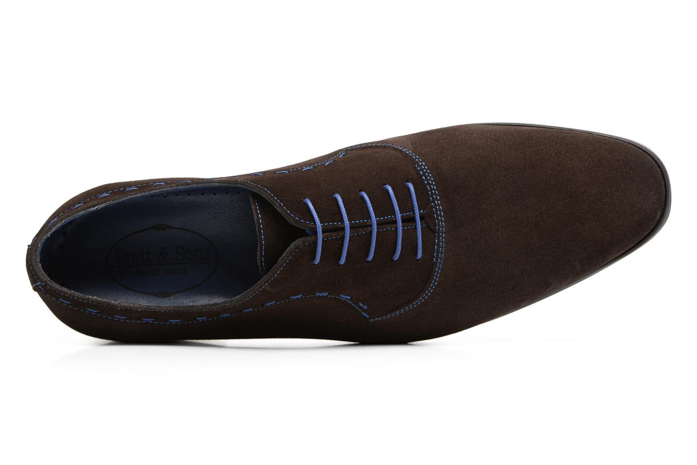 Chaussures à lacets Brett & Sons Cheston Marron vue gauche