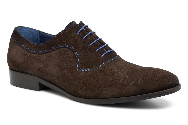 Chaussures à lacets Brett & Sons Cheston Marron vue détail/paire