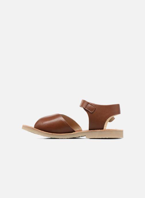 Sandales et nu-pieds Young Soles Sonny Marron vue face
