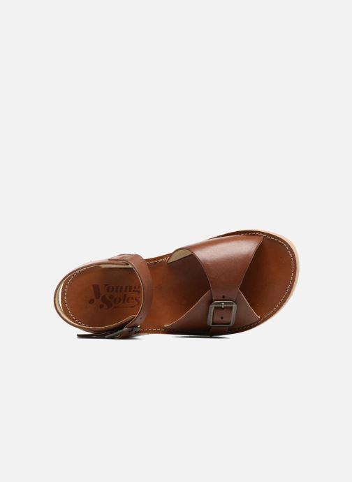 Sandali e scarpe aperte Young Soles Sonny Marrone immagine sinistra