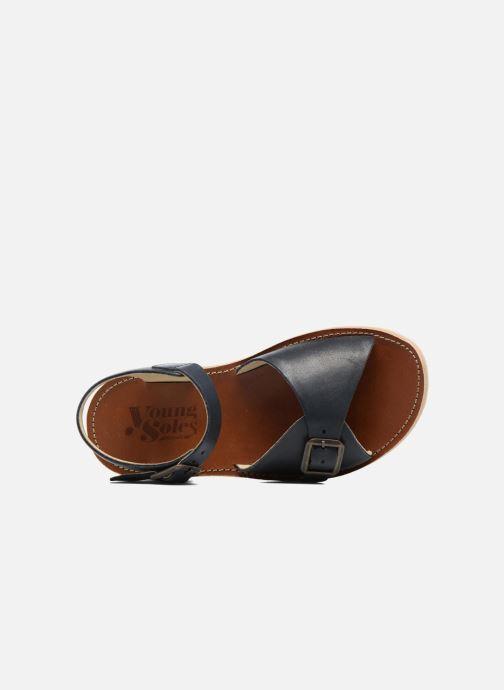 Sandales et nu-pieds Young Soles Sonny Bleu vue gauche