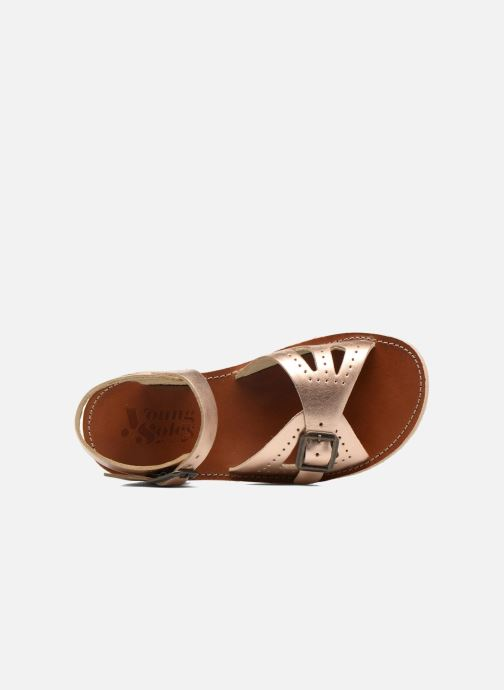 Sandals Young Soles Pearl Pink view from the left