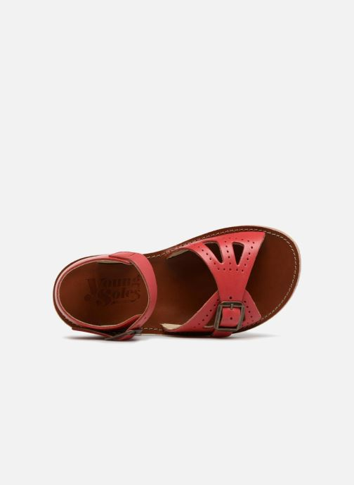 Sandalen Young Soles Pearl rot ansicht von links