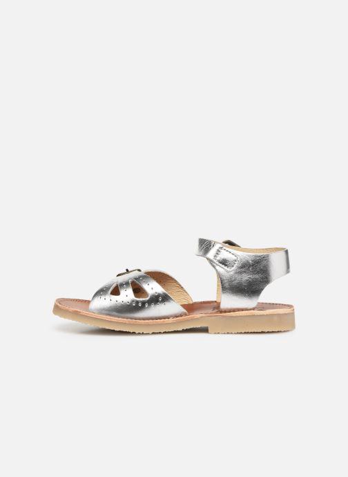 Sandales et nu-pieds Young Soles Pearl Argent vue face