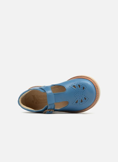 Sandals Young Soles Rosie Blue view from the left