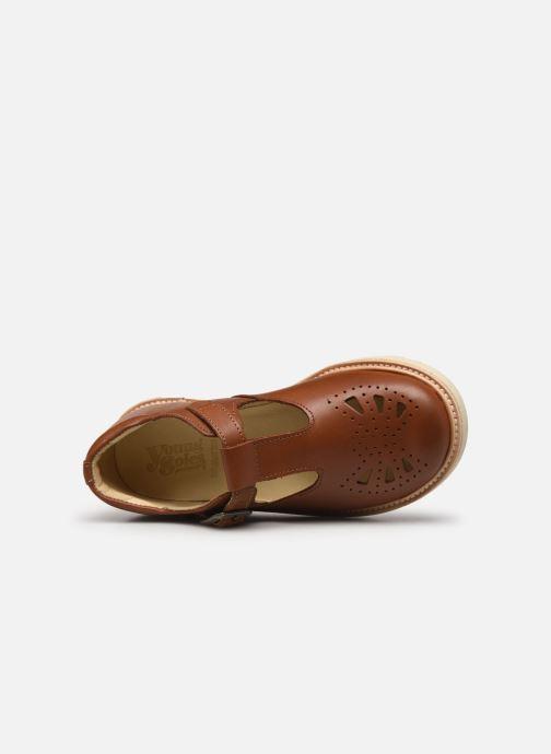 Sandales et nu-pieds Young Soles Rosie Marron vue gauche