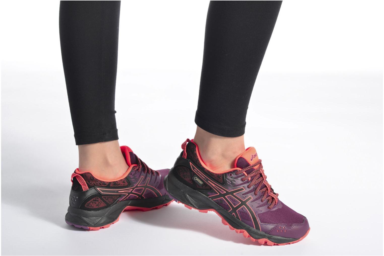 Chaussures de sport Asics Gel-Sonoma 3 G-Tx W Violet vue bas / vue portée sac