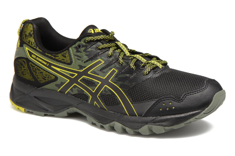 Chaussures de sport Asics Gel-Sonoma 3 Noir vue détail/paire