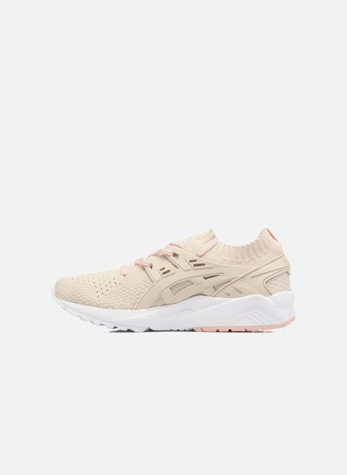 Baskets Asics Gel Kayano Trainer Knit W Beige vue face