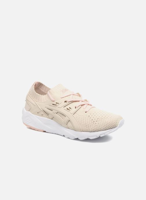 Baskets Asics Gel Kayano Trainer Knit W Beige vue détail/paire