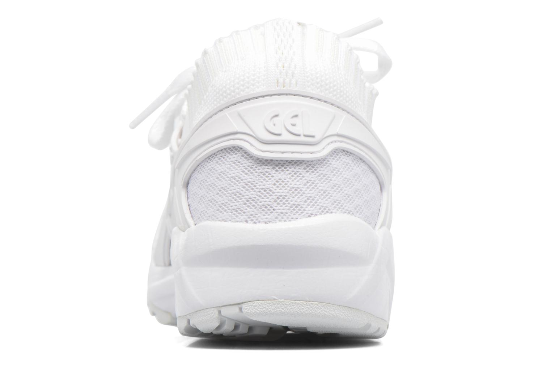 Baskets Asics Gel Kayano Trainer Knit W Blanc vue droite