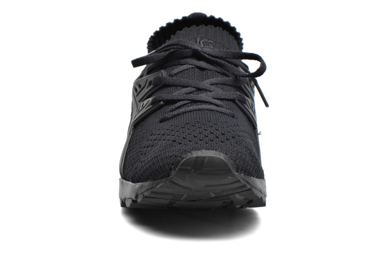 Baskets Asics Gel Kayano Trainer Knit W Noir vue portées chaussures