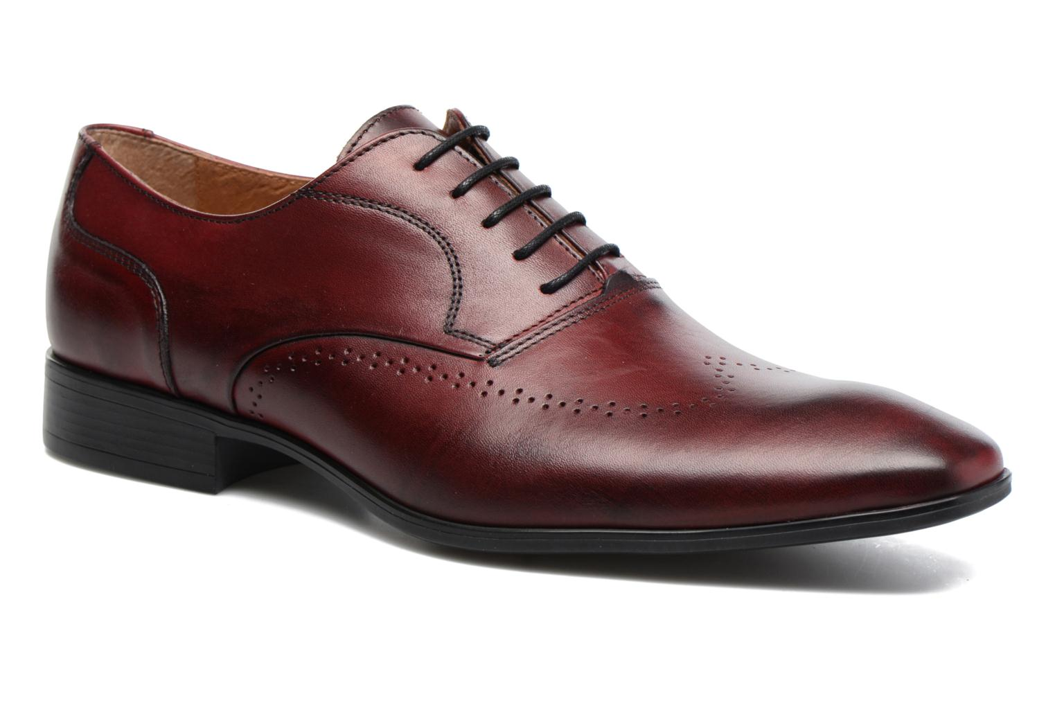 Veterschoenen Marvin&Co Romford Bordeaux detail