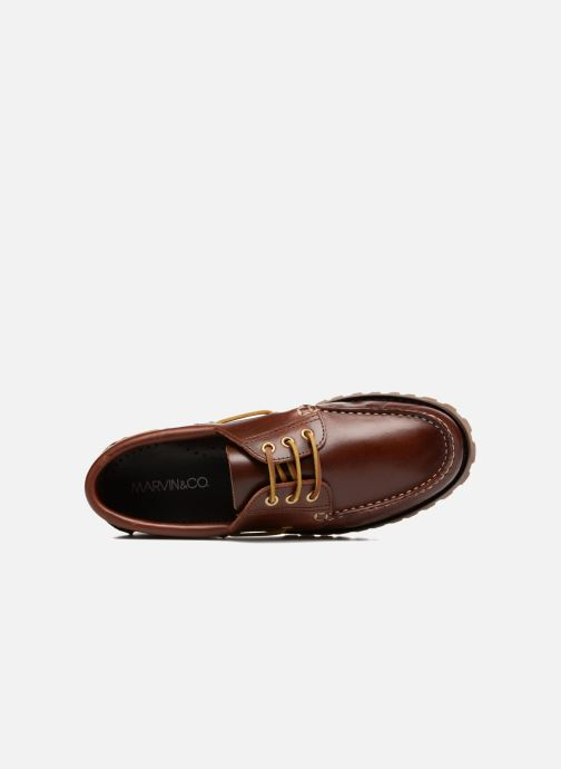 Lace-up shoes Marvin&co Smount Brown view from the left