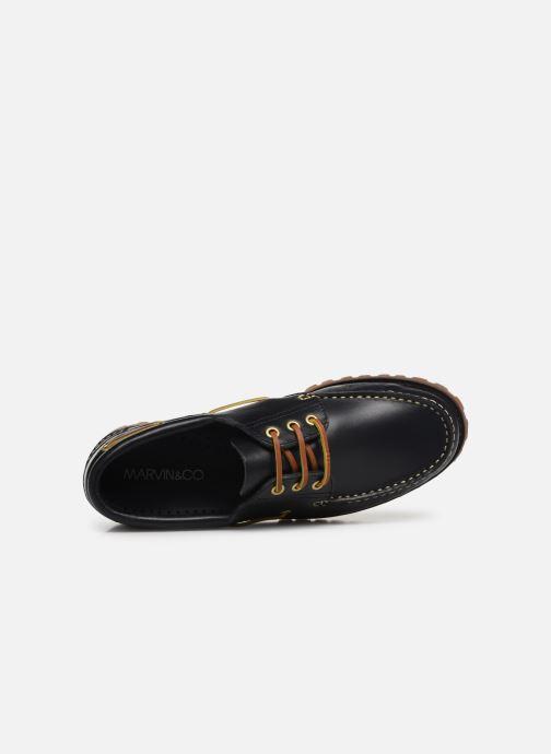 Zapatos con cordones Marvin&Co Smount Azul vista lateral izquierda