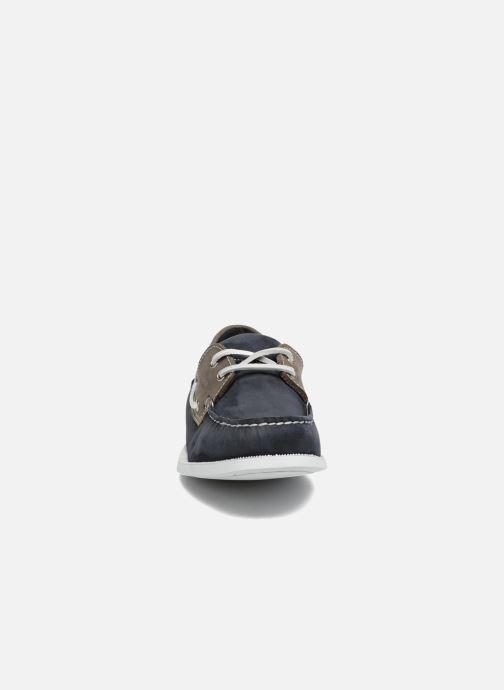 Schnürschuhe Marvin&Co Satingh blau schuhe getragen