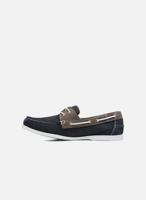 Schnürschuhe Marvin&Co Satingh blau ansicht von vorne