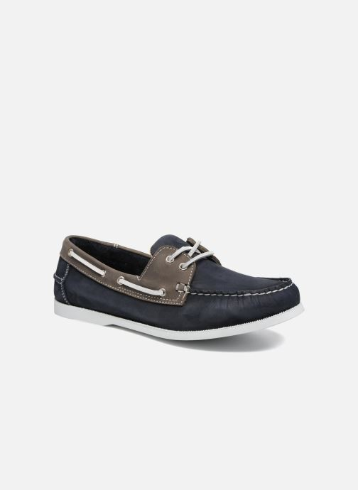 Lace-up shoes Marvin&co Satingh Blue detailed view/ Pair view