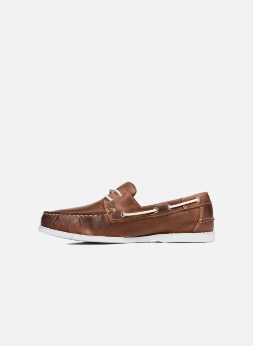 Lace-up shoes Marvin&co Satingh Brown front view