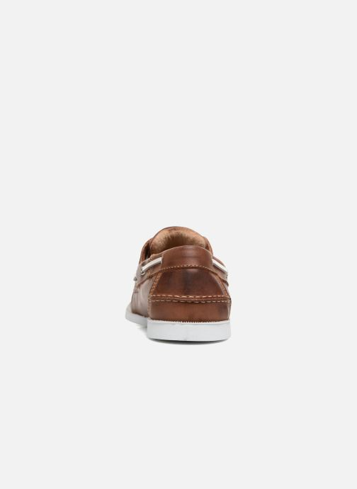 Lace-up shoes Marvin&co Satingh Brown view from the right
