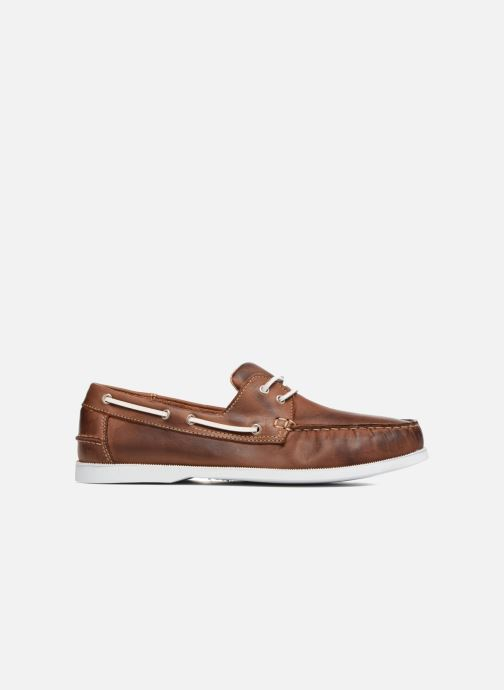 Lace-up shoes Marvin&co Satingh Brown back view