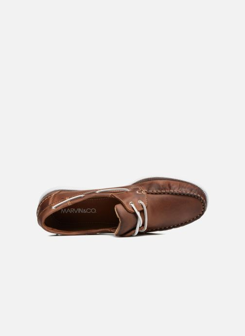 Lace-up shoes Marvin&co Satingh Brown view from the left