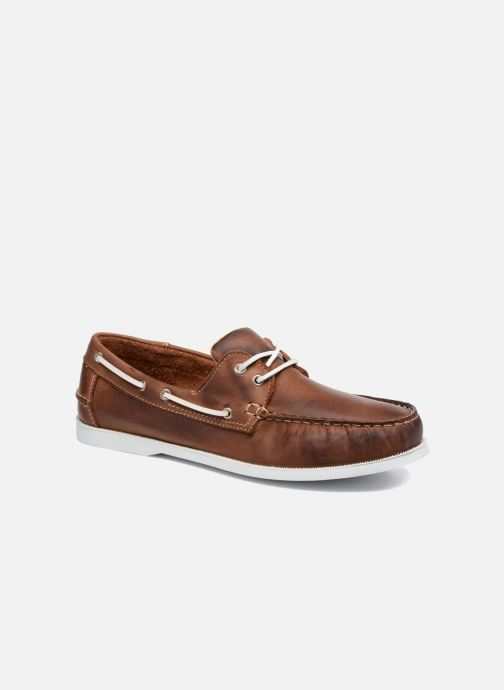 Lace-up shoes Marvin&co Satingh Brown detailed view/ Pair view