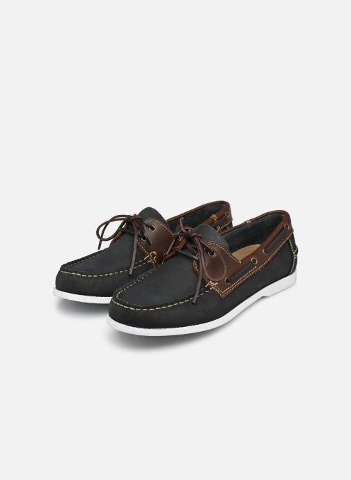 Chaussures à lacets Marvin&Co Satingh Bleu vue bas / vue portée sac