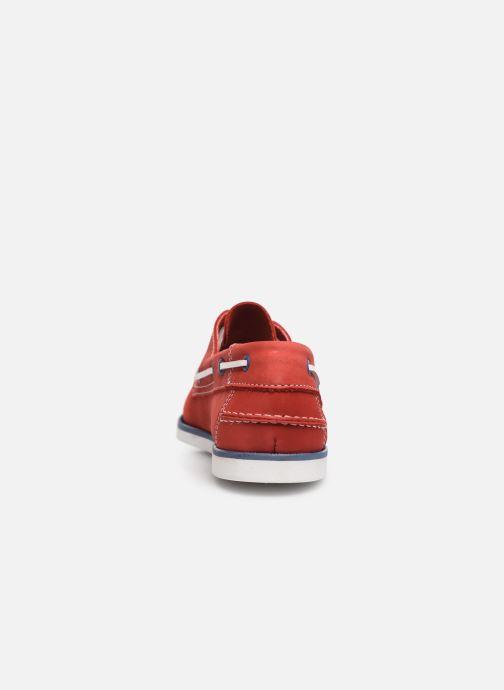 Zapatos con cordones Marvin&Co Satingh Rojo vista lateral derecha