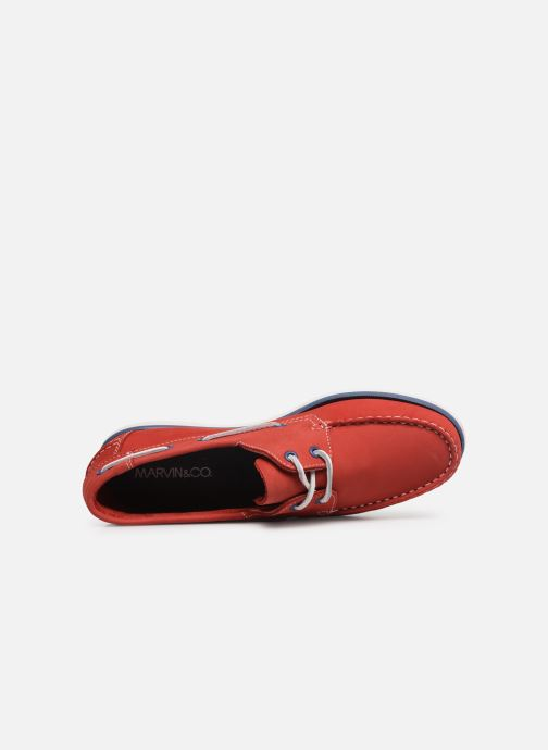 Chaussures à lacets Marvin&Co Satingh Rouge vue gauche