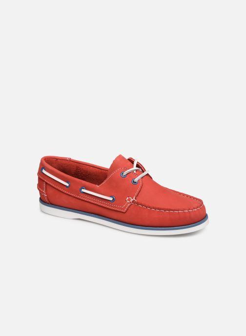 Chaussures à lacets Marvin&Co Satingh Rouge vue détail/paire