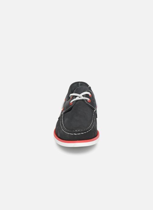 Zapatos con cordones Marvin&Co Satingh Azul vista del modelo