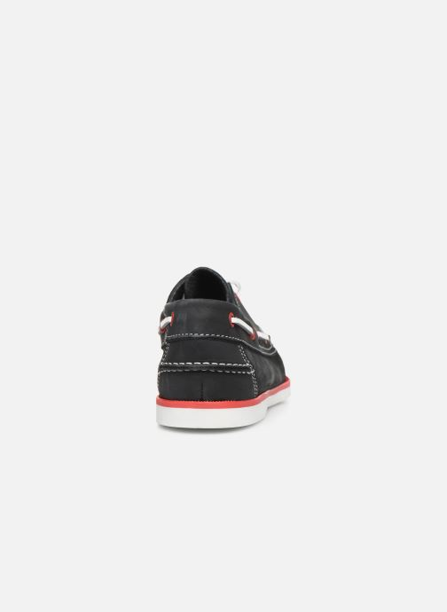 Zapatos con cordones Marvin&Co Satingh Azul vista lateral derecha