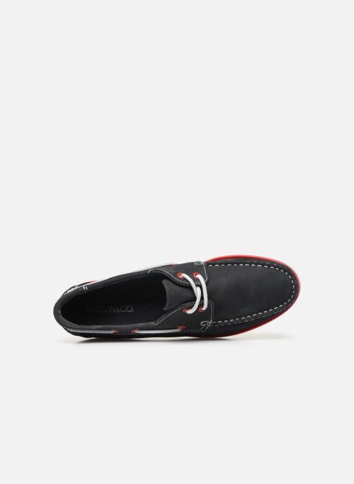 Zapatos con cordones Marvin&Co Satingh Azul vista lateral izquierda