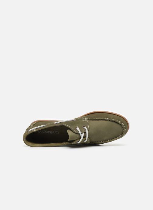 Chaussures à lacets Marvin&Co Satingh Vert vue gauche