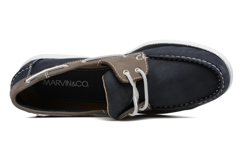 Chaussures à lacets Marvin&Co Satingh Bleu vue gauche