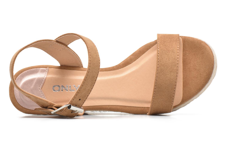 Sandalias ONLY Amelia Etno Heeled Sandal Verde vista lateral izquierda