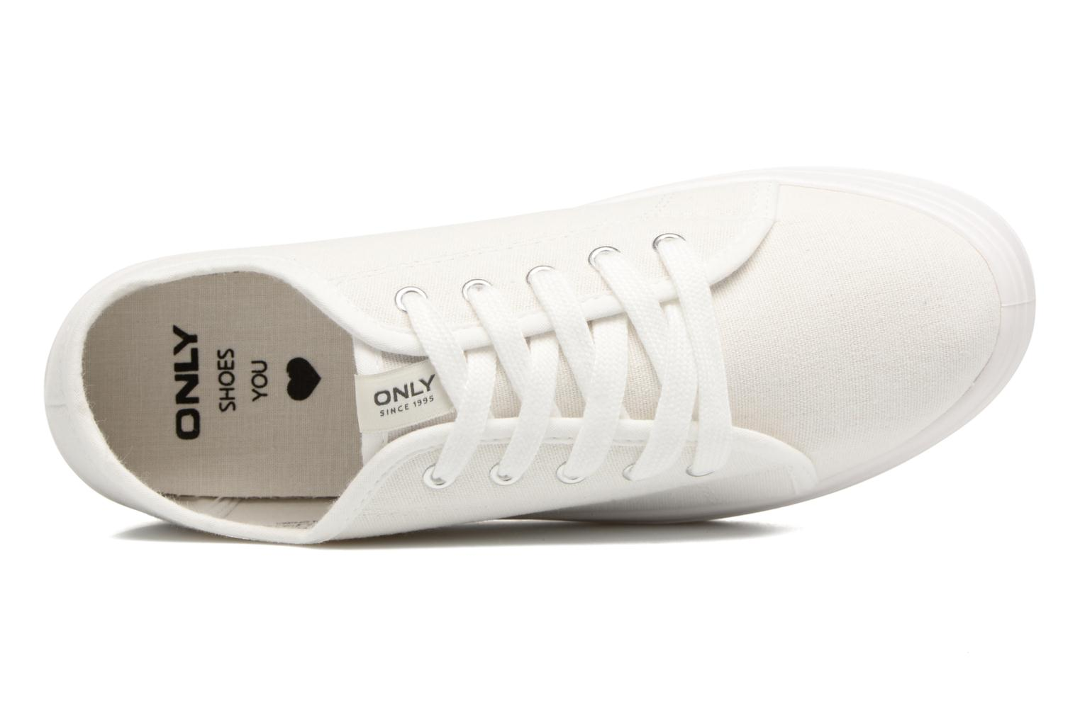 Sneakers ONLY Sarina Plain Sneaker Bianco immagine sinistra
