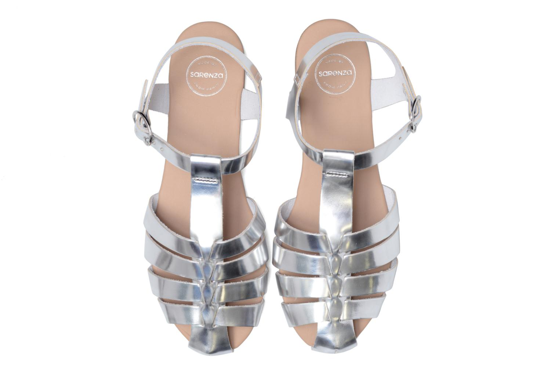 Sandalias Made by SARENZA Pastel Belle #1 Plateado vista del modelo