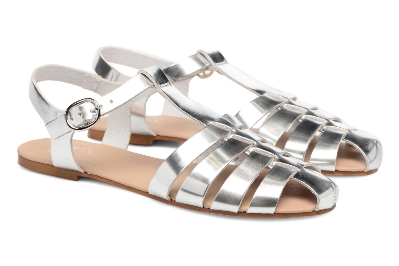 Sandalias Made by SARENZA Pastel Belle #1 Plateado vistra trasera