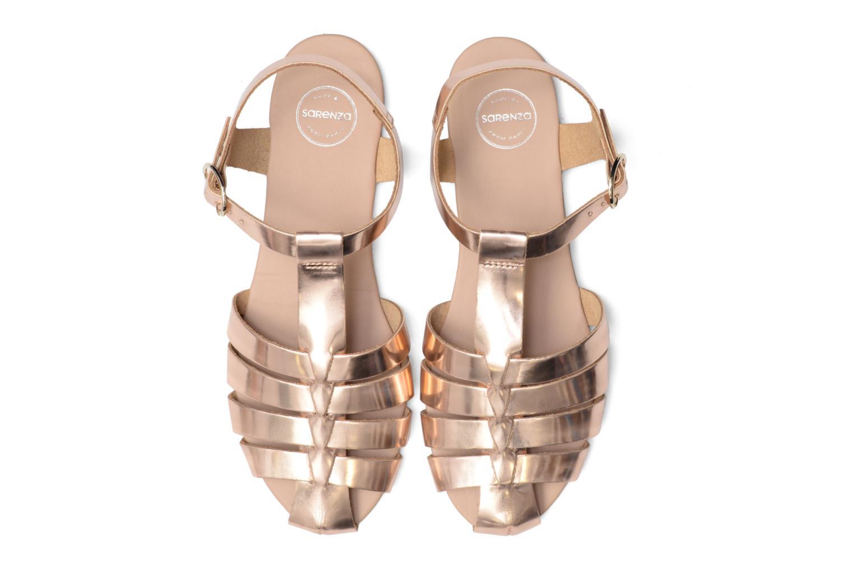 Sandalias Made by SARENZA Pastel Belle #1 Oro y bronce vista del modelo