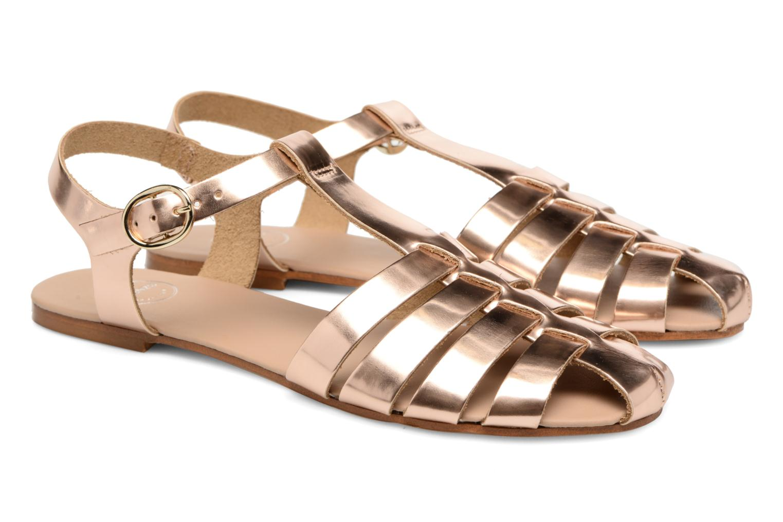 Sandalias Made by SARENZA Pastel Belle #1 Oro y bronce vistra trasera