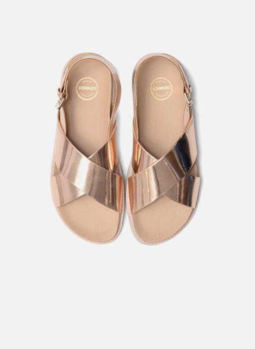 Sandalias Made by SARENZA Pastel Belle #8 Oro y bronce vista del modelo