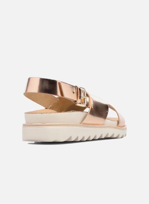 Sandalias Made by SARENZA Pastel Belle #8 Oro y bronce vista de frente